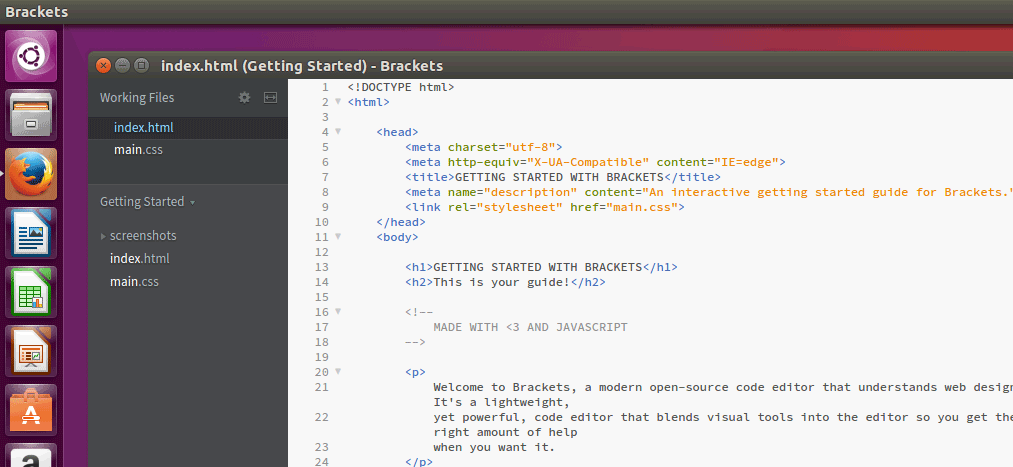 Install Brackets Text Editor on Ubuntu Desktop