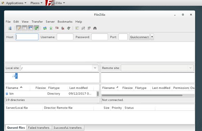 Install FileZilla FTP Client on CentOS 7 Desktop