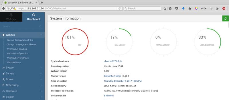 Install Webmin on Ubuntu Server